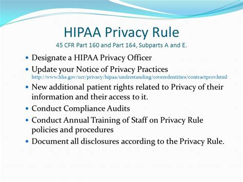 hipaa sections hipaa regulations what do you need to know ppt download