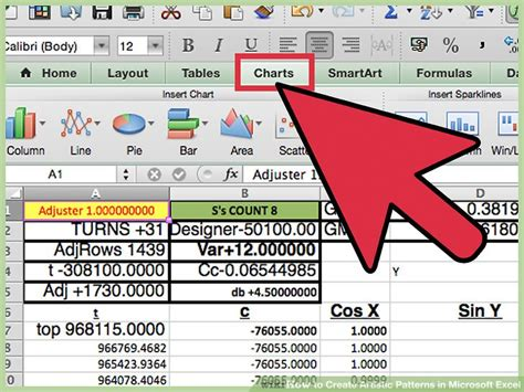 download pattern excel download sensitivity chart creator for microsoft excel