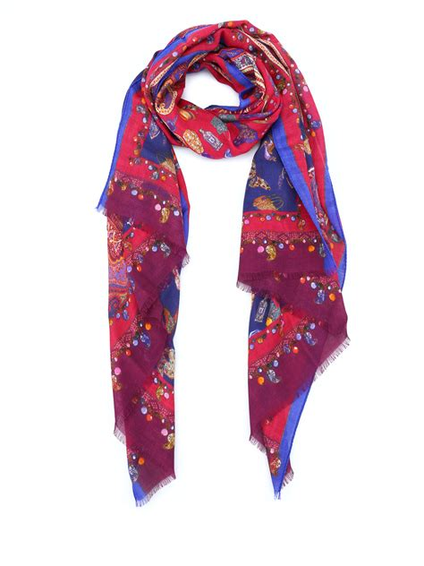 paisley print silk wool scarf by etro scarves ikrix