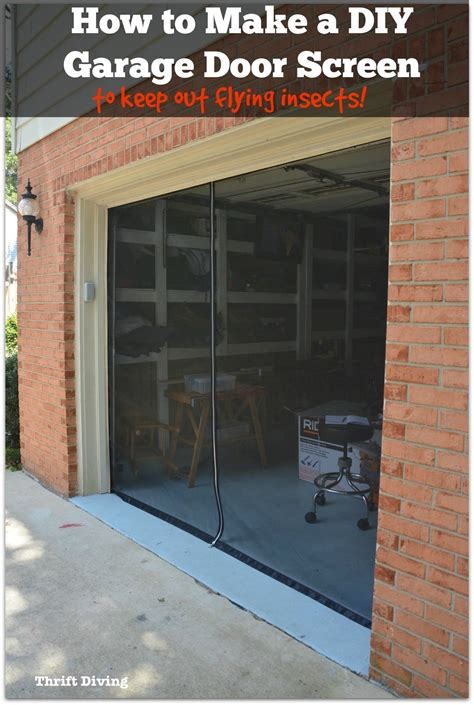 Build Your Own Garage Door Diy Garage Door Screen Wageuzi