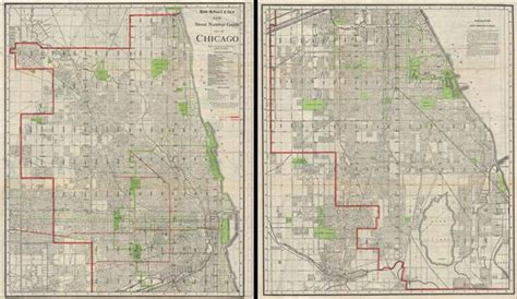 chicago map with numbers new number guide map of chicago geographicus