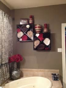 Bathroom Wall Towel Storage Wine Rack Mounted To The Wall A Large Garden Tub Great For Towel Storage Home Dec