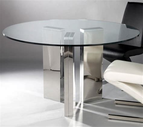 Houzz Glass Dining Room Table Chintaly Sabrina Glass Top Dining Table