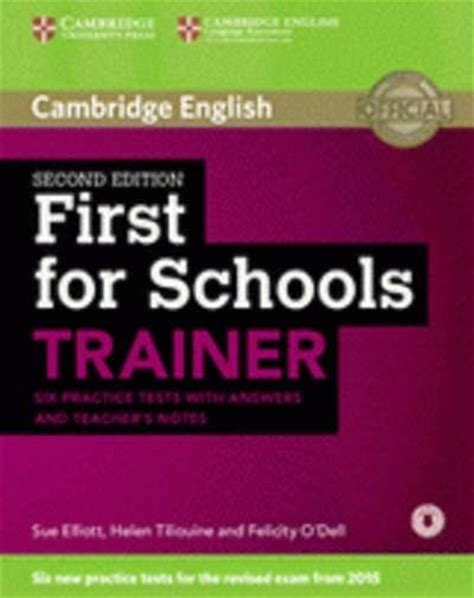 first for schools trainer 110744604x pasajes librer 237 a internacional first for schools trainer 2nd ed fce 2015 six practice