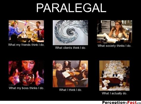 Entertainment Paralegal by Paralegal What Think I Do What I Really Do Perception Vs Fact
