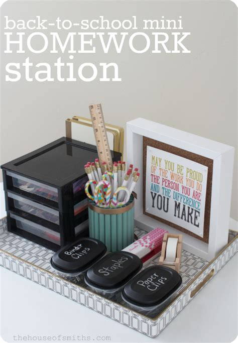 homework station ideas craftionary