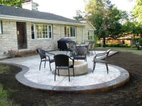 Backyard Concrete Patio Ideas Concrete Patio Ideas To Choose From For Your Compound Decorifusta