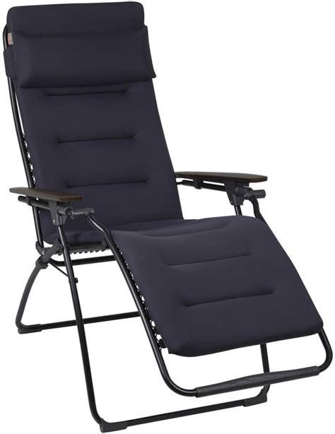 lafuma padded recliner lafuma futura air comfort padded recliner acier
