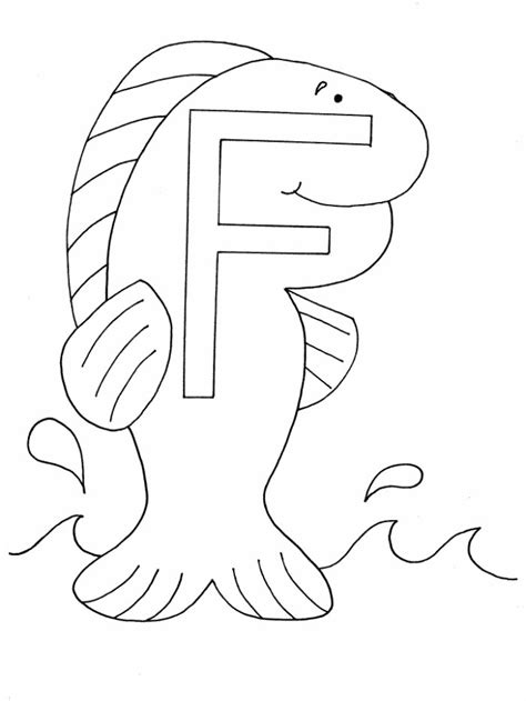F Fish Coloring Page by Free Coloring Pages Of F Fish