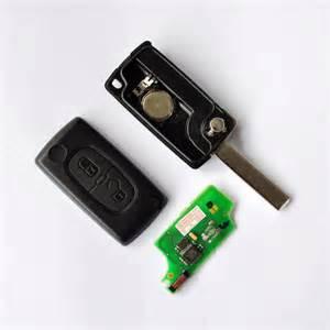 Peugeot 307 Key 2 Button Peugeot 307 Flip Remote Key Transponder Id46