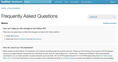 frequenty asked questions twitter launches faq section for developers
