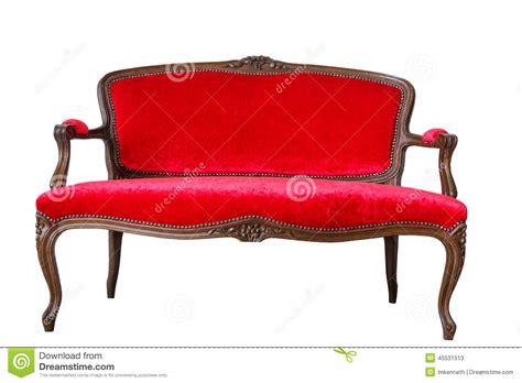 red vintage couch red vintage sofa stock image image of imitation luxury