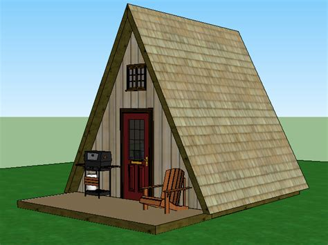 Small A Frame Cabin Plans With Loft by My Design Utilizes A 14x14 Base With 2x6x16 Rafter Walls