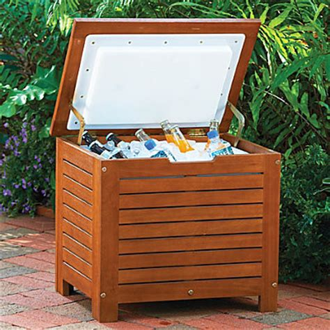 backyard ice chest wood ice chest contemporary coolers and ice chests