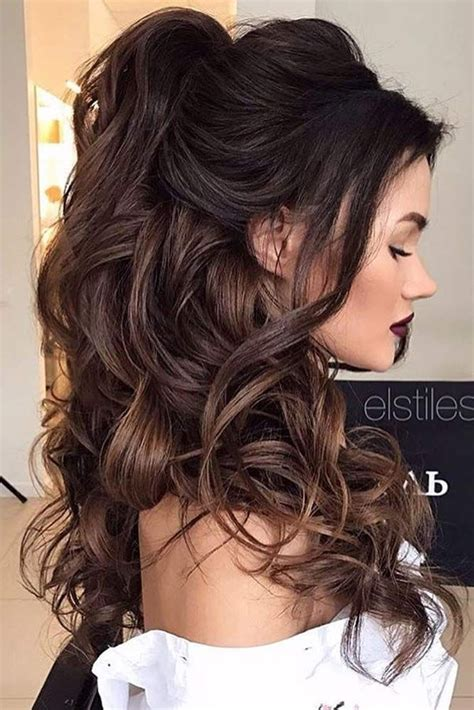 homecoming hairstyles all down 24 chic half up half down bridesmaid hairstyles