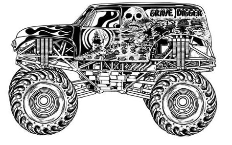 grave digger truck coloring pages grave digger free coloring pages