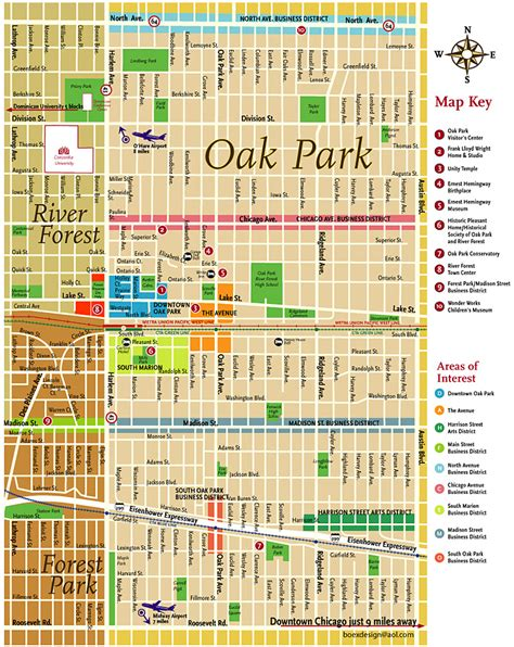 oak park mall map oak park illinois map