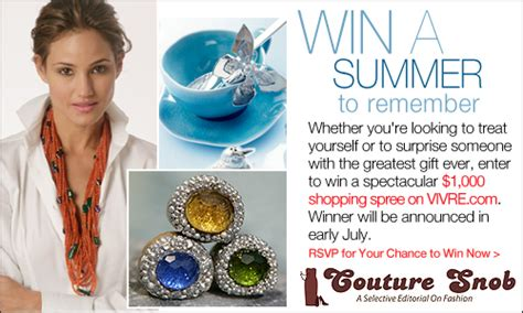 Vivre Sweepstakes by Last Week To Enter Summer Shopping Spree 1000 At Vivre
