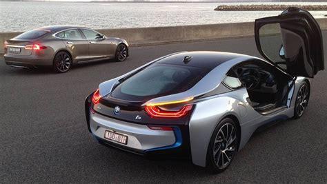 Tesla Or Bmw 2015 Bmw I8 Vs Tesla Model S Hybrid Vs Electric Carsguide