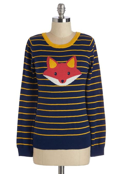 Fox Sweater the fox sweater clothes i like foxes