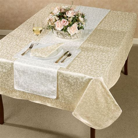 lenox opal innocence acanthus table linens