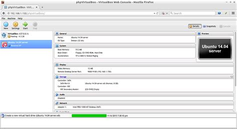 setup ubuntu web server virtualbox install oracle virtualbox and phpvirtualbox on centos 7