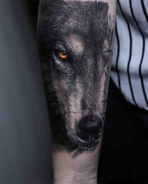 realistic wolf arm tattoo best tattoo ideas gallery
