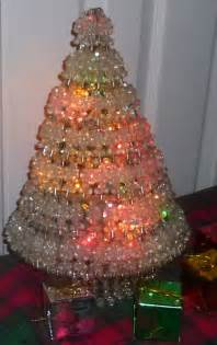 reserved for lausandra safety pin christmas tree with crystal