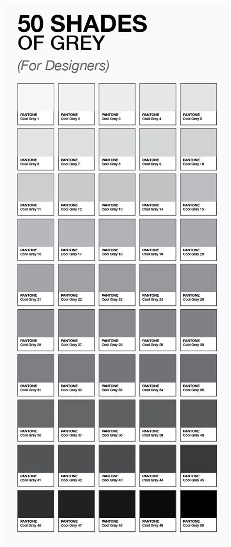 shades of grey color names design salvation 002 pinterest 50 shades 50th and