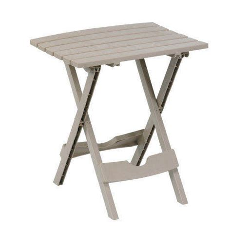 Outdoor Folding Side Table Plastic Small Side Folding Fold End Table Outdoor Yard Travel Compact Lawn Tables