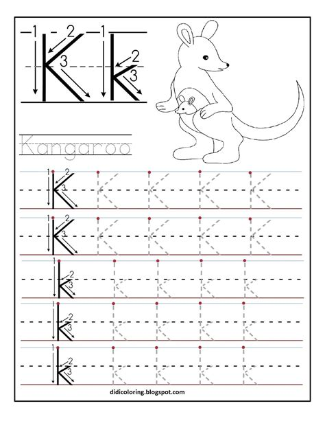 printable alphabet worksheets free free printable worksheet letter k for your child to learn