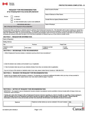 printable employment insurance application ins5210 fill online printable fillable blank pdffiller