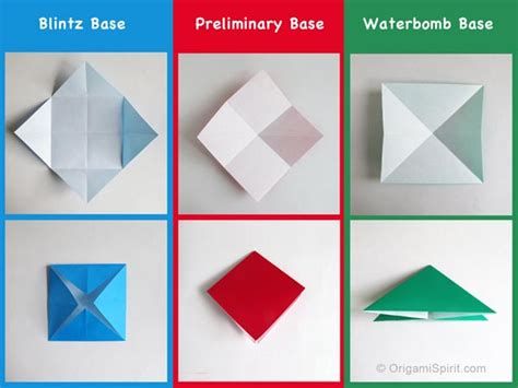 Origami Bases - how to make an origami frog origami bases