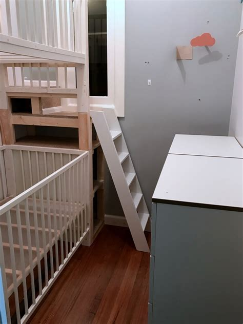 baby crib bunk beds crib bunk bed hacked from ikea gulliver cots ikea