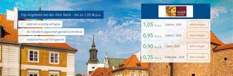 deutsche bank festgeldanlage alior bank festgeld attraktive zinsen jederzeit k 252 ndbar