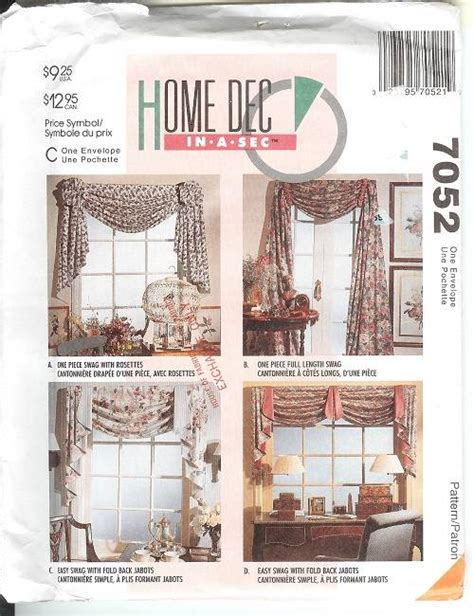 curtain valance sewing patterns oop mccalls sewing pattern window treatment curtains