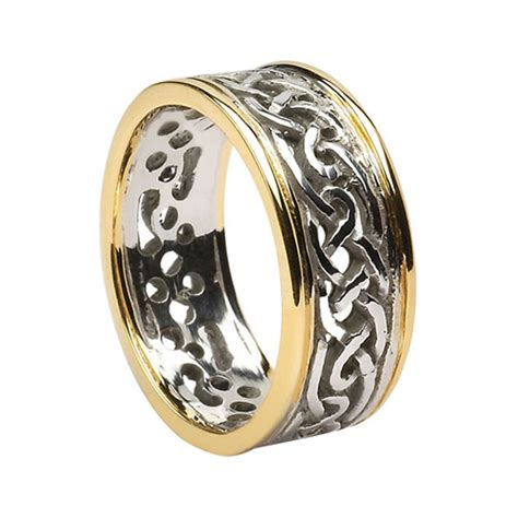 celtic white gold wedding rings handmade