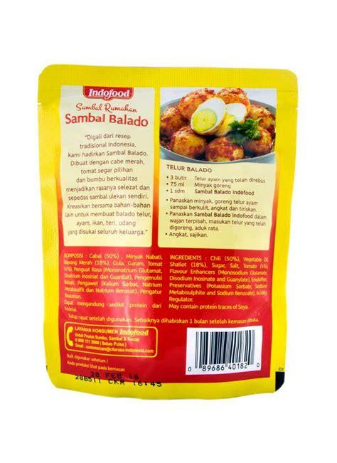 Sambal Balado Indofood indofood sambal rumahan sambal balado pch 200g klikindomaret