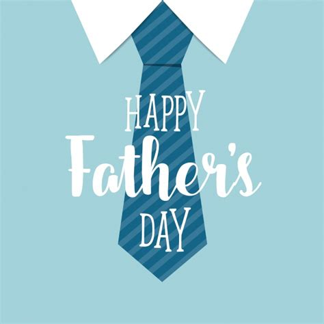 fathers day images free happy fathers day with blue tie background vector free