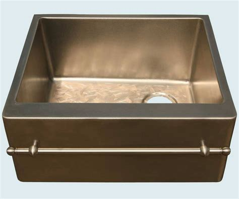 crafted bronze sink with towel bar butterfly bottom
