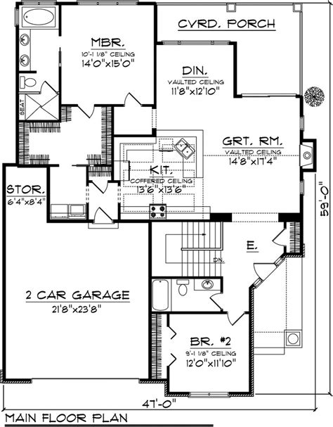 2 Bedroom Cottage House Plans 2 Bedroom House Plans With Garage House Plans 2