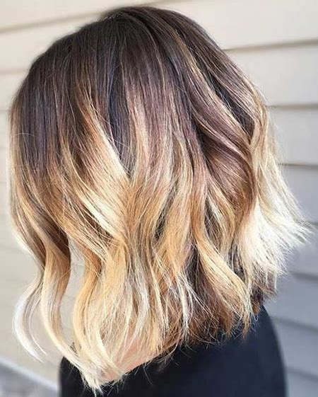 color ideas  long bob hairstyle  blonde balayage