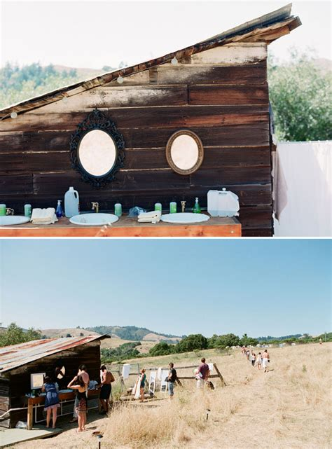 bathrooms for outdoor weddings a festival inspired backyard wedding green wedding shoes