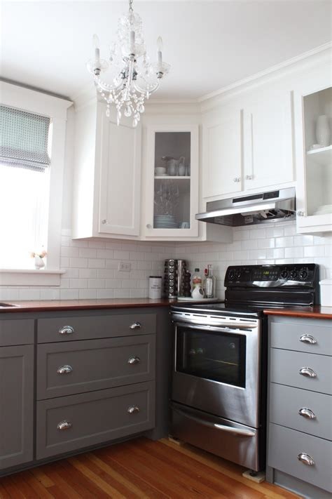 modern jane: Two Tone Cabinets Reveal.