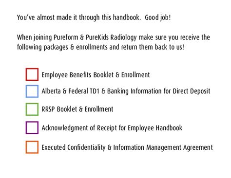 employee handbook benefits section pureform employee handbook