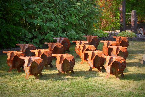 Gartenskulpturen Aus Rostigem Eisen