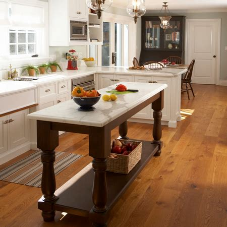 build kitchen island table home dzine kitchen choose a kitchen island style