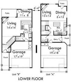 duplex house plans corner lot duplex house plans d 554 b