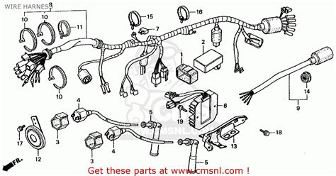 honda rebel 250 parts diagram honda cmx250cd rebel 250 ltd 1986 usa wire harness