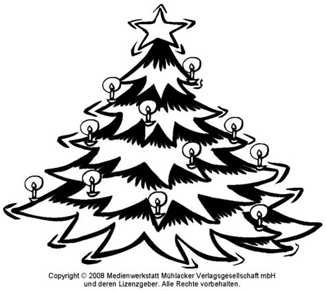zum ausmalen weihnachtsbaum medienwerkstatt wissen